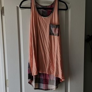Boutique Tank with plaid detail never worn